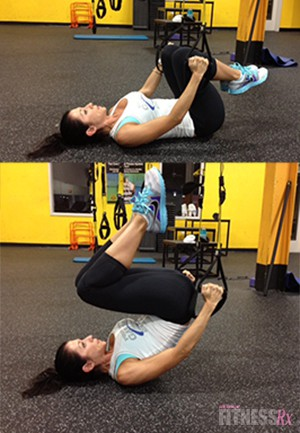 TRX ASSISTED REVERSE CRUNCH
