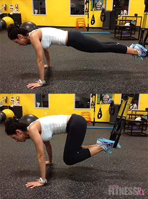 TRX REVERSE CRUNCH (From Plank Position)