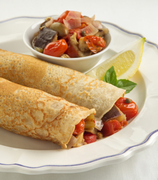 Ratatouille Veggie Stuffed Crepe