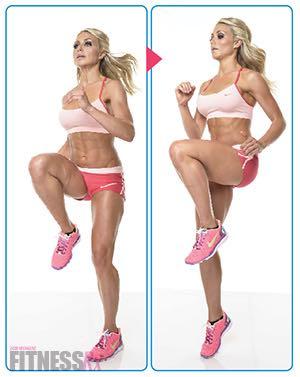Sexy Summer Legs - Dianna Dahlgren's Leg and Butt Workout - HIGH KNEES