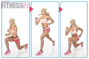 Sexy Summer Legs - Dianna Dahlgren's Leg and Butt Workout - SWITCH LUNGE JUMPS