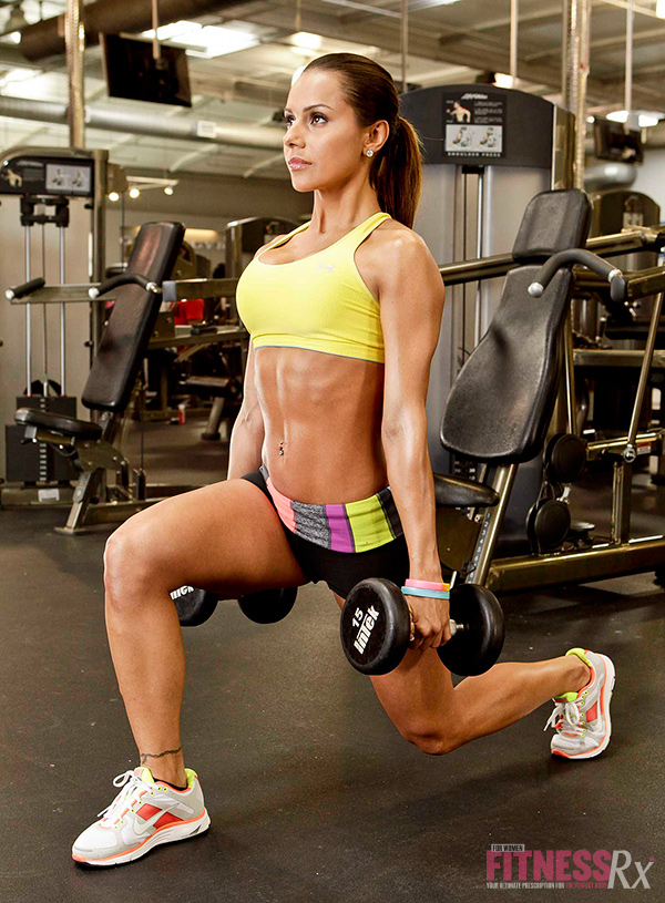 Strong & Shapely Glutes - Dumbbell lunges