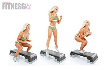 Boot Camp Fat-Blaster! - IFBB Pro Jessica Paxon's Boot Camp Workout! Pop Squats on to Step