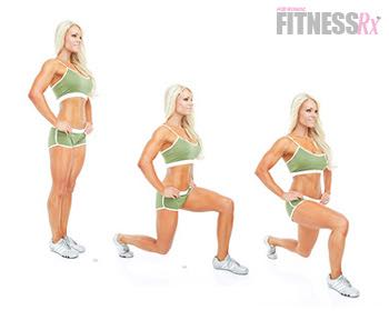 Boot Camp Fat-Blaster! - IFBB Pro Jessica Paxon's Boot Camp Workout! Walking lunges (weighted)