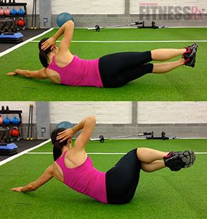 Side Double Crunch - Train your abs from all angles