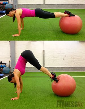 Swiss Ball Pike - The perfect abdominal exercise