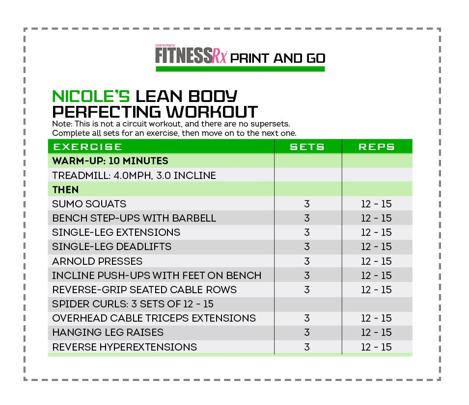 Lean Body Perfecting Workout with Nicole Wilkins