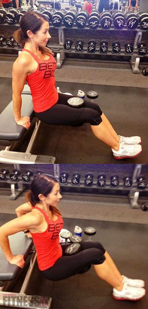 Tank Top Tone-Up: Part 4 - Kickbacks & Bench Dips