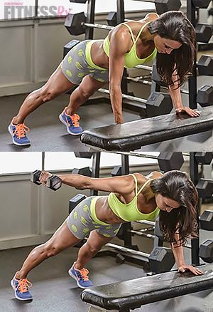 Bench Plank Rear Lateral Raise - Shape shoulders & tighten core
