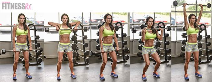 Upright Row To Clean & Press - Blast your shoulders with this finisher