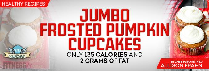 Jumbo Frosted Pumpkin Cupcakes