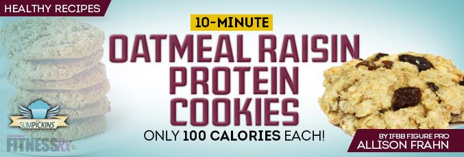 10-minute Oatmeal Raisin Protein Cookies