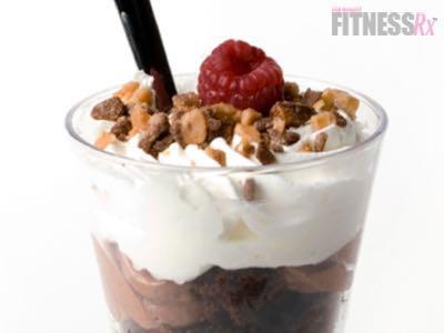 Chocolate Peanut Butter Protein Parfait - Guilt-free decadent dessert