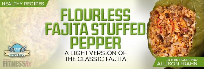 Flourless Fajita Stuffed Pepper - Light version of the classic fajita