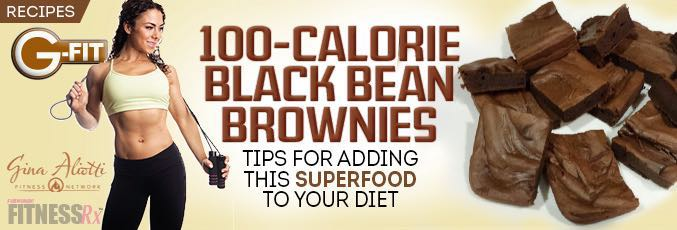 100-calorie Black Bean Brownies