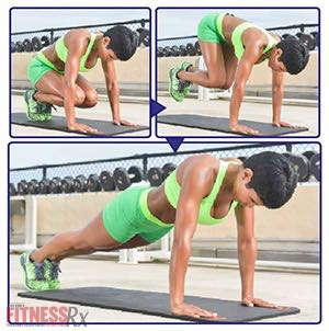 The Tight Curves Workout - A Butt-shaping, Ab-toning, Fat-blasting Plan - PLANK THRUST