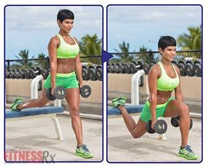 The Tight Curves Workout - A Butt-shaping, Ab-toning, Fat-blasting Plan - BULGARIAN SPLIT SQUAT