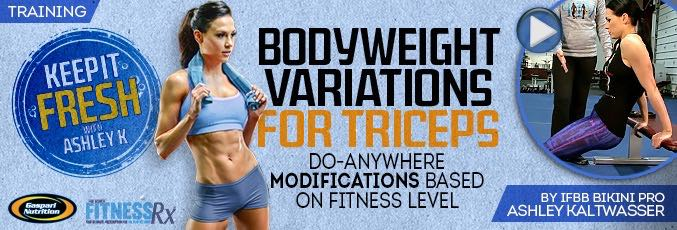 Bodyweight Variations for Triceps