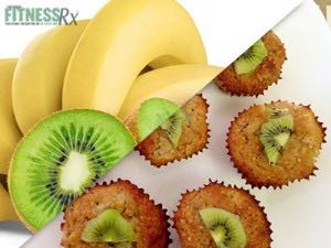Banana Kiwi Muffins - Only 85 calories each
