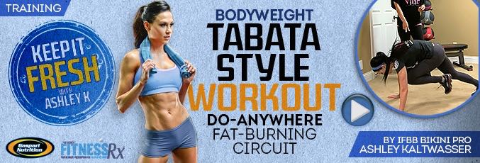 Bodyweight Tabata-style Workout
