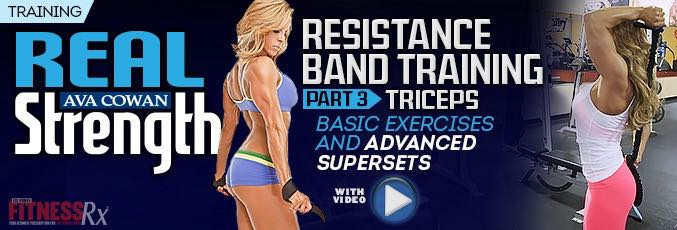 Resistance Band Training Part 3 – Triceps