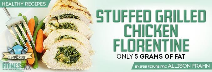 Stuffed Grilled Chicken Florentine