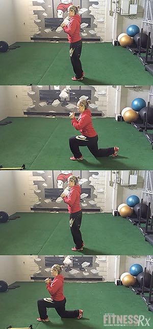 Switch Lunges - Tighten your legs and glutes