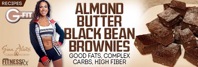 Almond Butter Black Bean Brownies