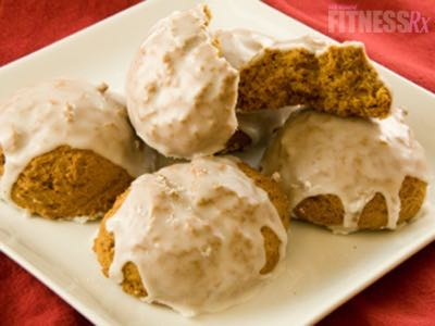 Iced Pumpkin Cookie Cakes | Moist, Chewy 140–Calorie Treat