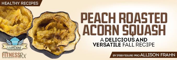 Peach Roasted Acorn Squash