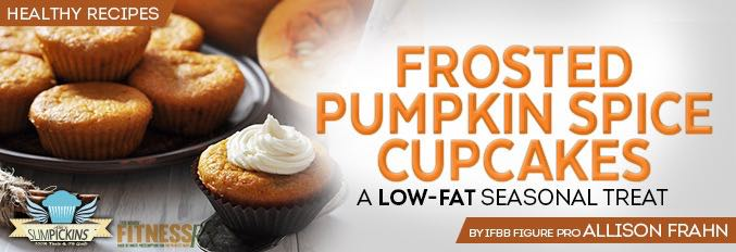 Frosted Pumpkin Spice Cupcakes