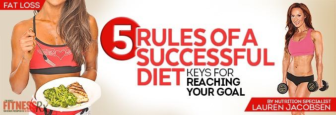 5 Rules of a Successful Diet
