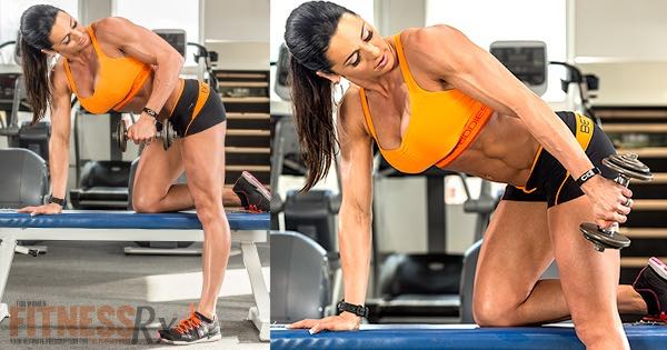 Tone Your Triceps - With Dumbbell Triceps Kickbacks
