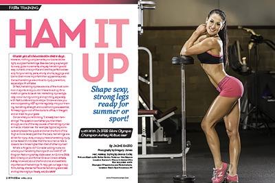 Ham It Up With Two-time IFBB Bikini Olympia Champion Ashley Kaltwasser