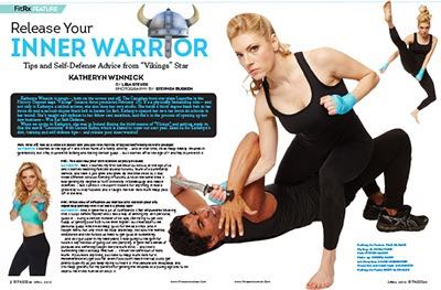 """Release Your Inner Warrior: Tips and Self-Defense Advice from 'Vikings' Star Katheryn Winnick,"""