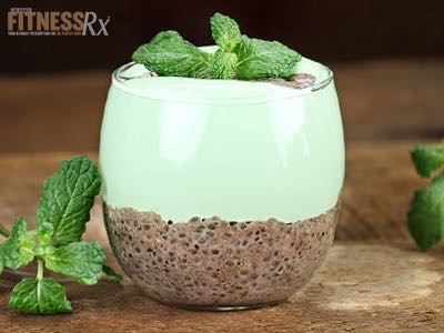 Mint Chocolate Chia Seed Pudding - Delicious High Protein, High Fiber Treat