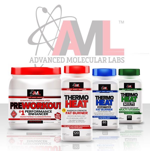 Advanced Molecular Labs' [AML] supplements - AML PREWORKOUT - AML THERMO HEAT DAYTIME - AML THERMO HEAT NIGHTTIME - AML THERMO HEAT MULTI