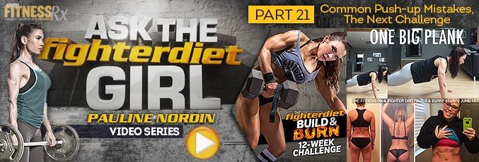 Ask The Fighter Diet Girl Pauline Nordin – Video 21