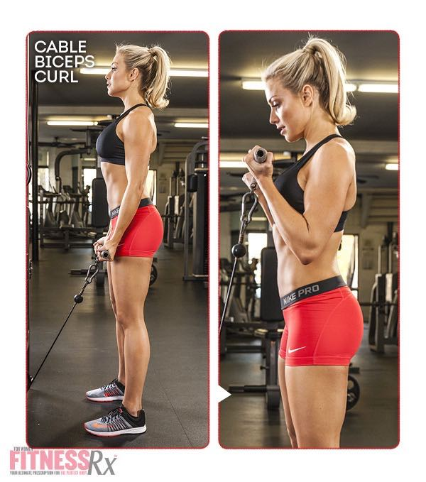8 WEEK SUMMER SLIM DOWN WORKOUT - Bicep Cable Curls