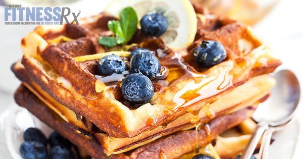 Lemon Blueberry Protein Waffles - Low-fat Twist on a Breakfast Favorite