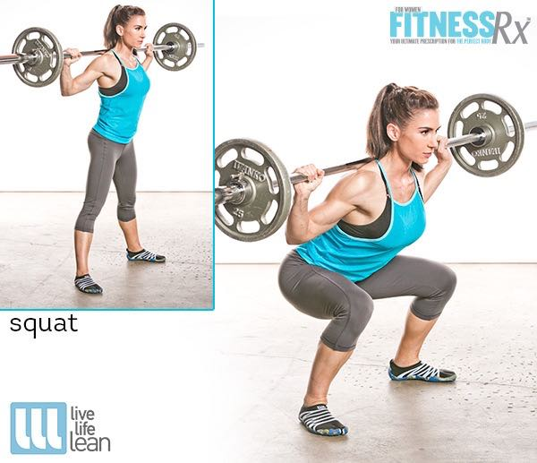 Squat - Skinny Fat With Muscle Ambition Workout - Pauline Nordin's Strength-Building Program
