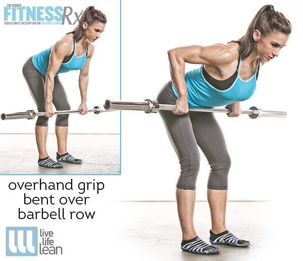 Overhand Grip Bent Over Row - Skinny Fat With Muscle Ambition Workout - Pauline Nordin's Strength-Building Program