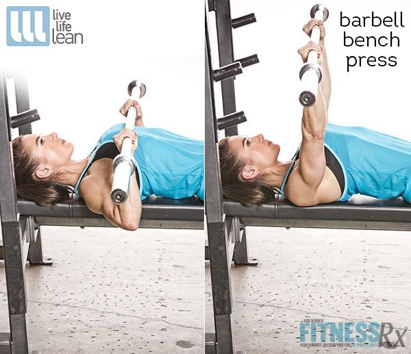 Barbell Bench Press - Skinny Fat With Muscle Ambition Workout - Pauline Nordin's Strength-Building Program