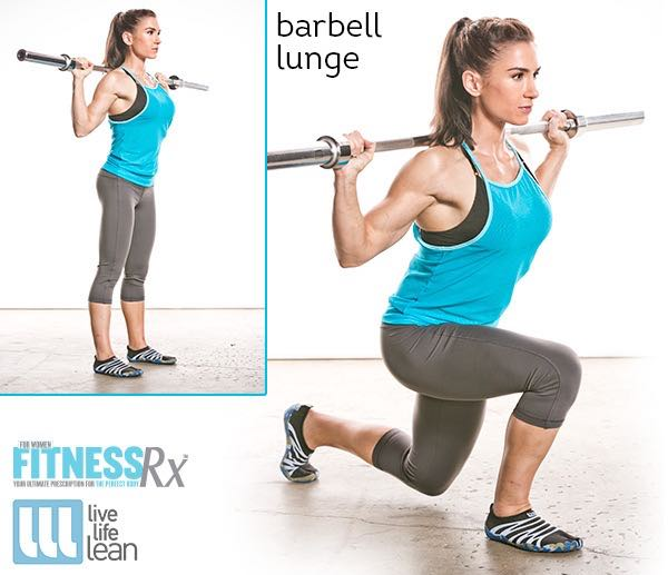 Barbell Lunge - Skinny Fat With Muscle Ambition Workout - Pauline Nordin's Strength-Building Program