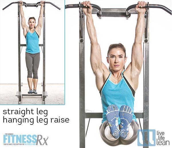 Straight Leg Hanging Leg Raise - Skinny Fat With Muscle Ambition Workout - Pauline Nordin's Strength-Building Program