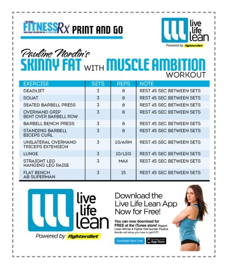Skinny Fat With Muscle Ambition Workout - Pauline Nordin's Strength-Building Program