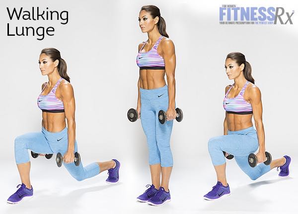 Dumbbell Complex - Walking Lunge