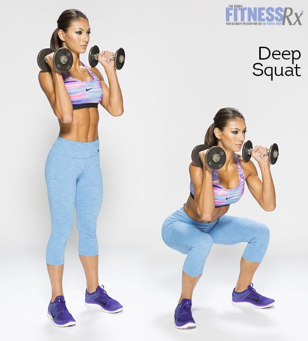 Dumbbell Complex - Deep Squat