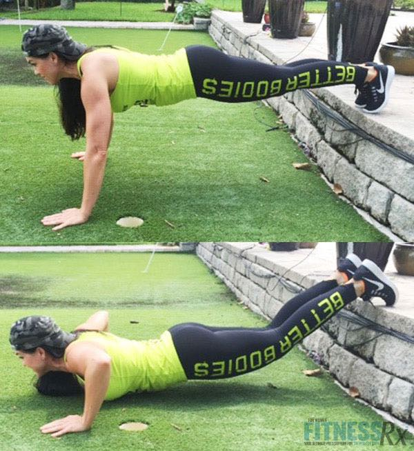 Toes on step push-ups