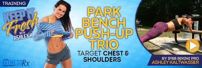 Park Bench Push-up Trio